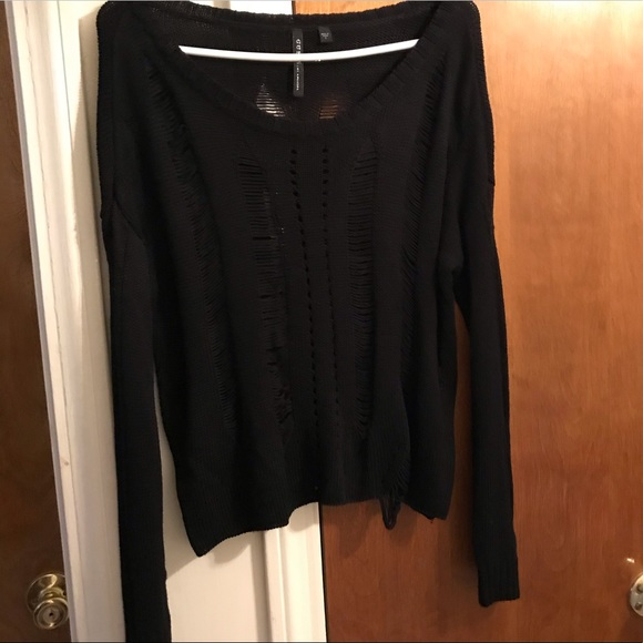 Guess ripped sweater